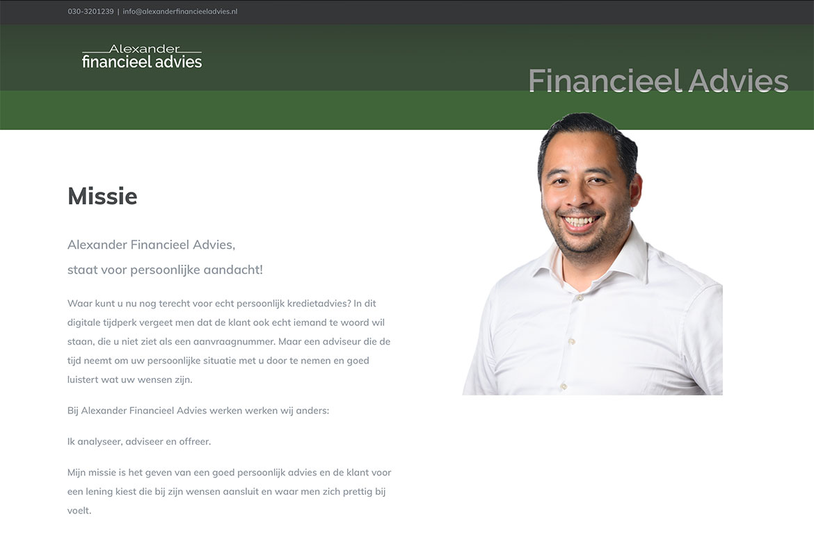 Alexander Financieel Advies | Portfolio Mary Alexander Graphic Design | Maarn