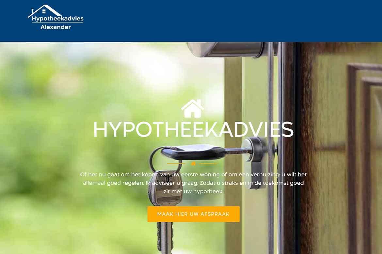 Hypotheekadvies Alexander| Portfolio Mary Alexander Graphic Design | Maarn